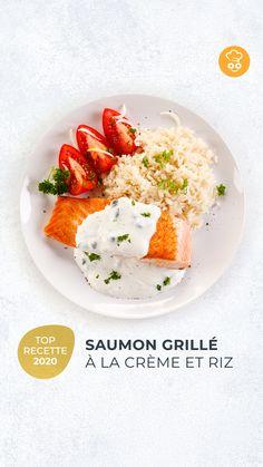 Peut-être une idée recette pour ce week-end avec ce délicieux saumon grillé à la crème et au riz ? 😋 Apparemment, nos utilisateurs l'adorent ! 😍 A retrouver sur 👉 WeCook.fr ! . Et vous, que cuisinez-vous ce week-end ? 😉 . #saumon #riz #recette #food #plaisir #wecook #diététicienne #weekend Nutrition, Week End, Eggs, Breakfast, Food, Grilled Salmon, Rice, Recipes, Kitchens