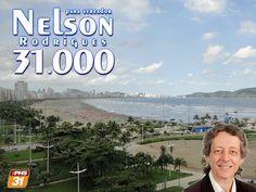 Nelson Rodrigues 31.000 para vereador em Santos: Vote na vida. Ambientalista Nelson Rodrigues,  núm...