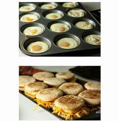 Make Ahead Freezer Breakfast Sandwiches Recipe