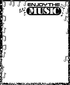 Free Music Borders Clip Art | Free Stock Photos | Illustration Of A Blank Music Frame Border ...