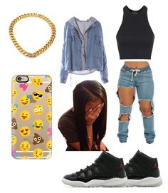 """Untitled #77"" by f0revera on Polyvore featuring Jordan Brand, Topshop, Vita Fede and Casetify"