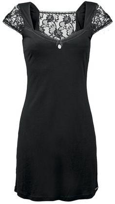 3bfbf0b321 Black Dress with lace Punk Rock