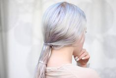 """Could you believe this is an easy DIY project?! I want it! Clear """"Glass"""" ponytail cover"""