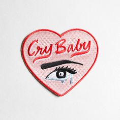 Little Arrow Studio - Cry Baby Heart Patch - $10