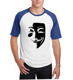 86206b1c HAMPSON LANQE Men's Short Sleeve ANONYMOUS Novelty T Shirt Shirt Men, T  Shirt, Raglan