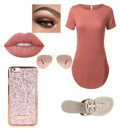 """Untitled #20"" by tabbytha-walsh ❤ liked on Polyvore featuring Tory Burch, Lime Crime and Ray-Ban"