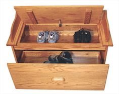 Amish Furniture Oak Toy Storage Bench Hall Seating Bench Shoe Storage Unit  *FOR THE MUD ROOM AKA BACKDOOR