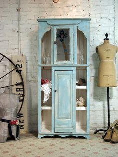 Painted Cottage Chic Shabby Aqua Handmade by paintedcottages, $595.00
