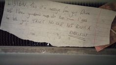 Found a hidden message in my college dorm