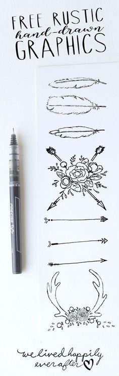 Free Rustic Hand-Drawn Graphics