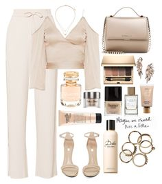 """👝"" by burcaak ❤ liked on Polyvore featuring Theory, Jeffrey Campbell, Givenchy, Topshop, Boucheron, Clarins, BaubleBar, philosophy, Butter London and Space NK"