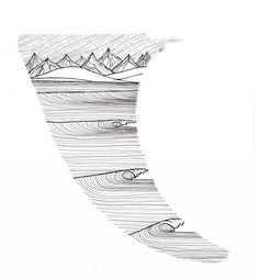 {Jonas Claesson – illustrations, t-shirts, prints fun stuff Style Surfer, Surf Style, Surf Tattoo, Tattoo On, Art Vampire, Vampire Knight, Art Surf, Surf Drawing, Hand Tattoos