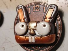 Robot BUNNY Steampunk Magnet SWEET one of a kind by JanellBerryman, $29.99