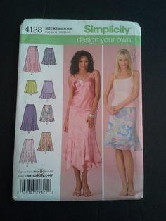Simplicity 4138 simplicity skirt pattern by BloomingRoseCrochet