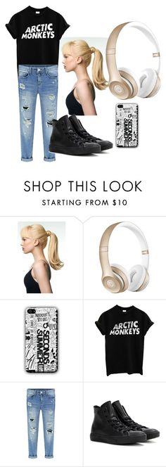 """""""Untitled #15"""" by dashthatfash ❤ liked on Polyvore featuring Toni&Guy, Beats by Dr. Dre and Converse"""