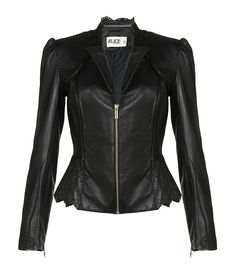 ALICE BY TEMPERLEY Libre Cropped Leather Jacket