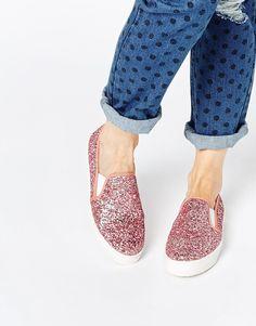 cool uber sparkly vegan slip ons  #vegan #vegetarian #shoes