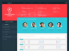 UEFA Champions League page redesign