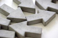 Imanes de cemento en forma de flecha - accesorios y decoración para el hogar - hecho a mano - en DaWanda.es