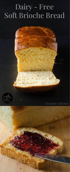 Dairy Free Brioche Bread - The Flavor Bender Dairy Free Recipes, Bread Recipes, Cooking Recipes, Brioche Bread, Yeast Bread, Bread And Pastries, Bread Baking, Baking Bad, Mets