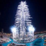 Firework Display at Burj Khalifa