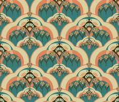 Art Deco Pattern~love the colours & design