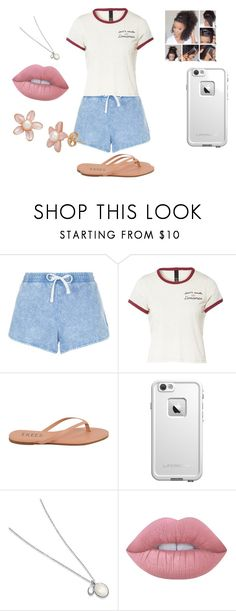 """""""Untitled #317"""" by nerdgirl14-boss on Polyvore featuring New Look, Tkees, LifeProof and Lime Crime"""