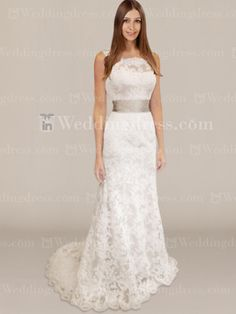 Elegant Wedding Gown - give this lacy long sleeves and it's perfect