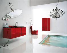 Mobile bagno sospeso design moderno n. 23
