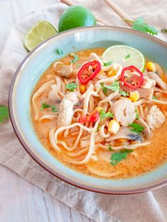 Thai Red Curry, Ramen, Ethnic Recipes, Food, Essen, Meals, Yemek, Eten