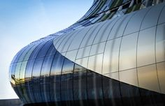 """""""La Cite du Vin"""", or """"the City of Wine"""", is a mix between a theme park and a museum all about WINE opening June in Bordeaux, France, the wine capital of the world. Aquitaine, Parc A Theme, Destinations, Curved Glass, Design Museum, Next Week, Where To Go, Modern Architecture, Surfboard"""