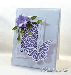 Card Making Ideas | Paper Crafts | Handmade Greeting Cards | Flower Cards | Butterfly Cards. Click on the picture if you would like to see how I made this card.