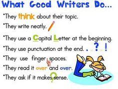 1st Grade Writing - What Good Writer's Do