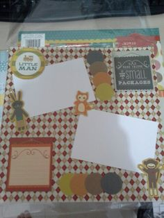 Scrapbook 30x30cm -- hey little man