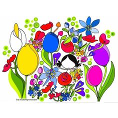 Lámina 'Primavera (flower therapy II)' - Muxote Potolo Bat Tienda Online