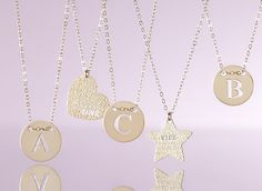 Customize your own monogram necklace.