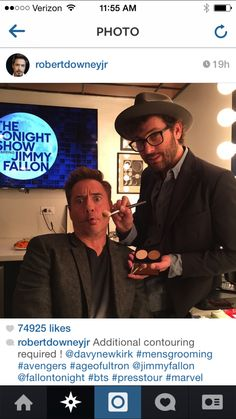 RDJ!!..☺️😩😂😭💄😍 ️I'm LOVING your new INSTAGRAM account!!.Left my BOO a comment!!..Ha-Ha-Ha!!.. PS: You don't need additional Contouring/Highlighting!!!..You always look SeXy to me!!  I'm cracking up!!!.. I can't even!! ✨✨ #RobertDowneyJR #MensGrooming #BringingSexyBack