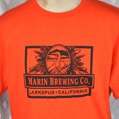 Marin Brewing Company SF Giants Orange Black Til I Die XL T-shirt Larkspur CA #sfgiants