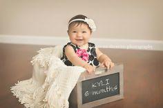 6 Month Old Baby Girl Photo Inspiration Ideas   Massachusetts Baby Photographer