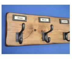 CLOAKROOM COAT RAIL Vintage / Antique Style Locker by WoodwormShop