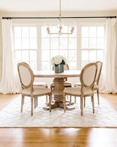 """154 Likes, 18 Comments - Savannah Cantrell (@cantrellinteriors) on Instagram: """"Smitten with how this fresh and simple dining room turned out! Raise your hand if you're guilty of…"""""""