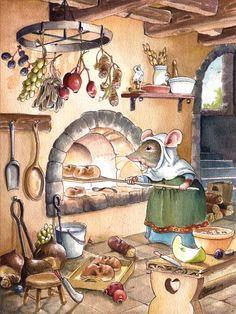 — ollebosse: Medieval Mouse by GabrielEvans Fuchs Illustration, Children's Book Illustration, Fairytale Art, Beatrix Potter, Whimsical Art, Cute Drawings, Cute Art, Illustrators, Fantasy Art
