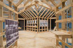 atelier bow-wow shotgun installation rice gallery jesus vassallo designboom