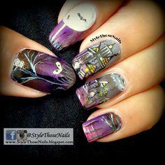 Haunted House Nails - Halloween Nails !!