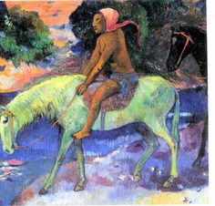 Man on a white horse, Paul Gauguin
