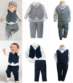 Baby Toddlers Boy Formal Pageant Suit, Shirt Pants Waistcoat set for wedding, formal day, special event.