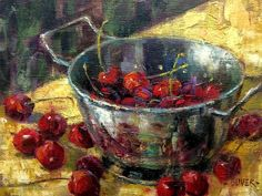 Art Talk - Julie Ford Oliver: Cherries - Day 26 in the Challenge