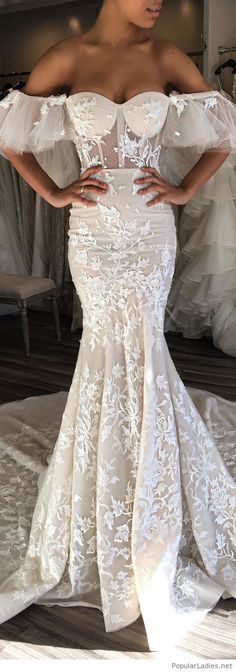 Long lace dress design on white