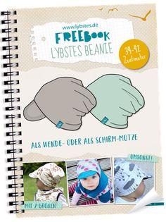 Kostenloses Baby Beanie Schnittmuster, Freebook Mütze, 0-3 Monate