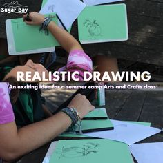 Life at the bay Summer Camp Art, Relaxing Day, Camping Crafts, Realistic Drawings, New Artists, Types Of Art, Craft Activities, Drawing Tips, Get Started